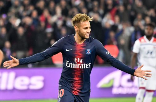 Neymar Jr during the french Ligue 1 match between Paris Saint-Germain (PSG) and Olympique Lyonnais (OL, Lyon) at Parc des Princes stadium on October 7, 2018 in Paris, France. (Photo by Julien Mattia/NurPhoto via Getty Images)